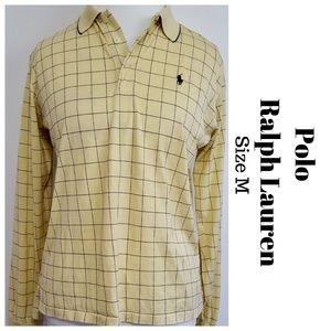 Ralph Lauren Womens Polo Shirt Top Yellow Cotton M